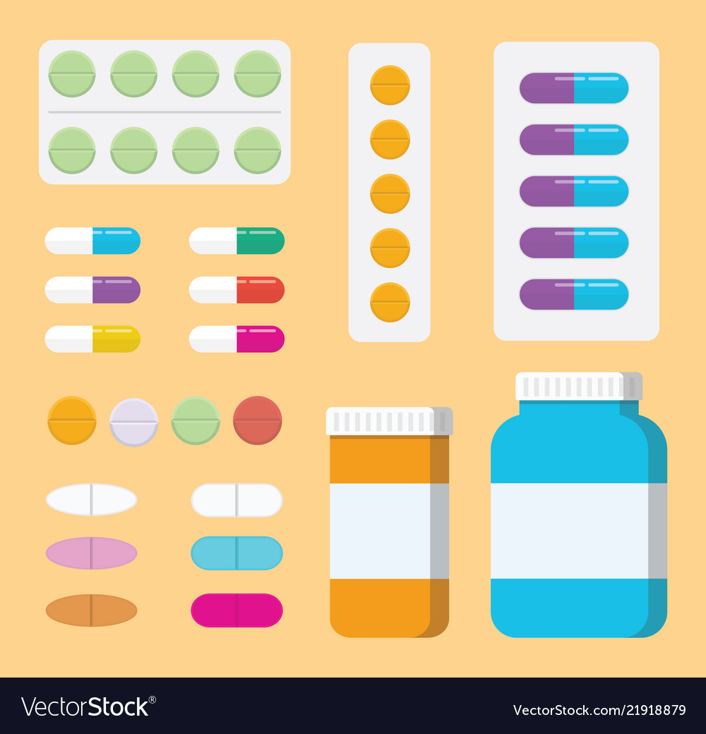 A set of collection pills medicine or medical