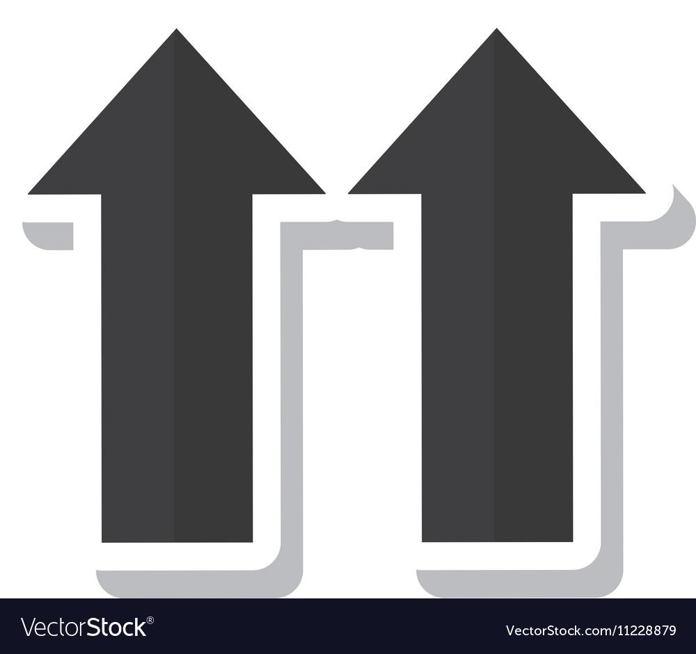 Arrows side up symbol