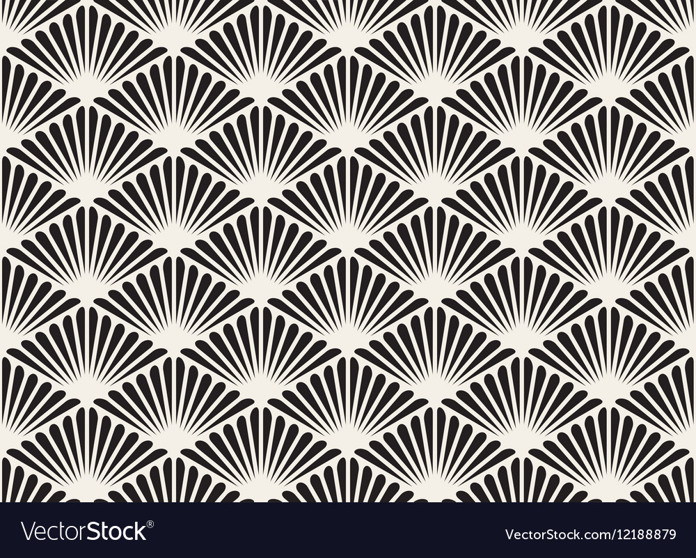 Black And White Seamless Organic Floral vector image