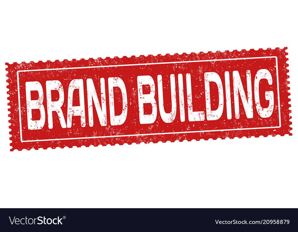 Brand building grunge rubber stamp