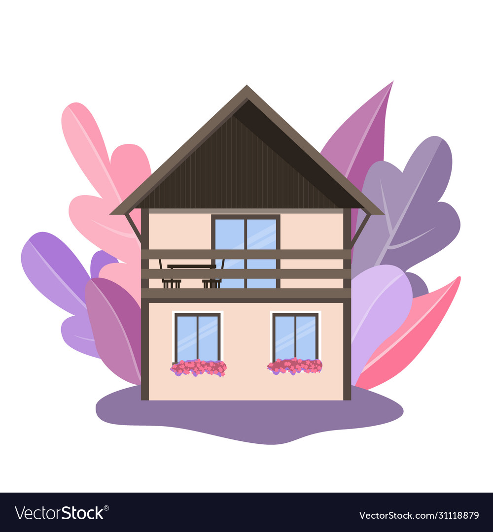 Cozy detailed house icon isolated on