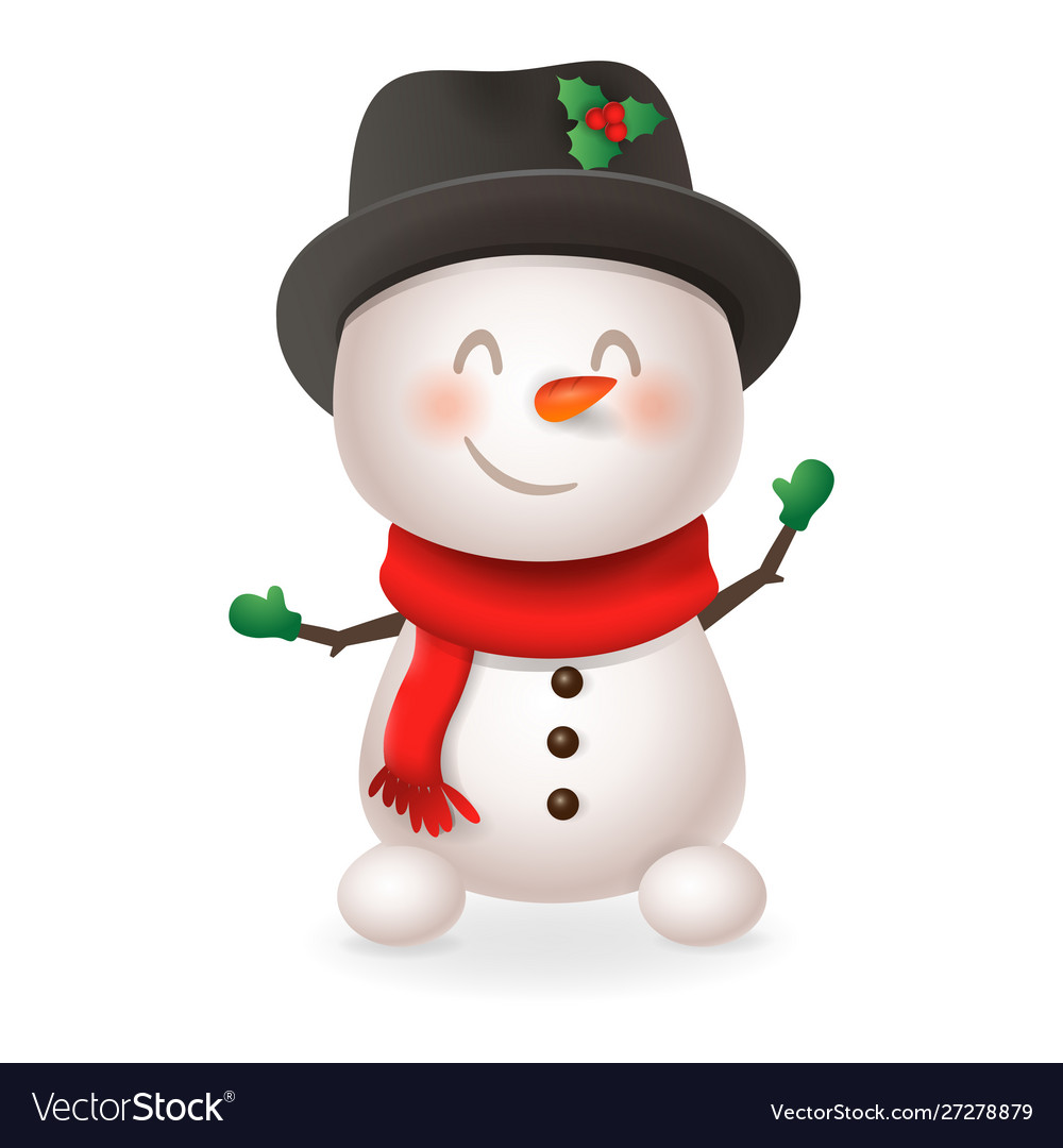Cute snowman - smile and wave