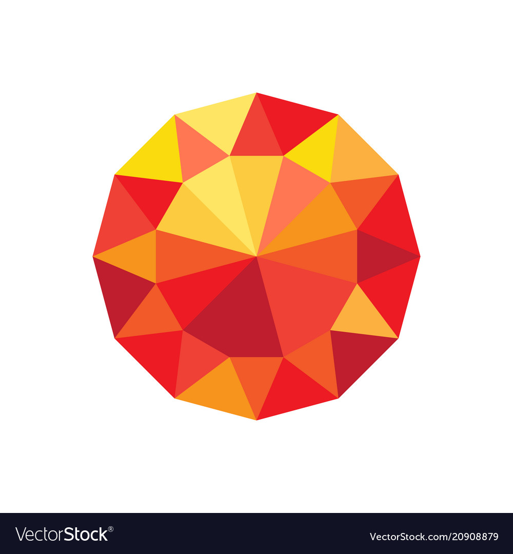 Diamond orange and red color