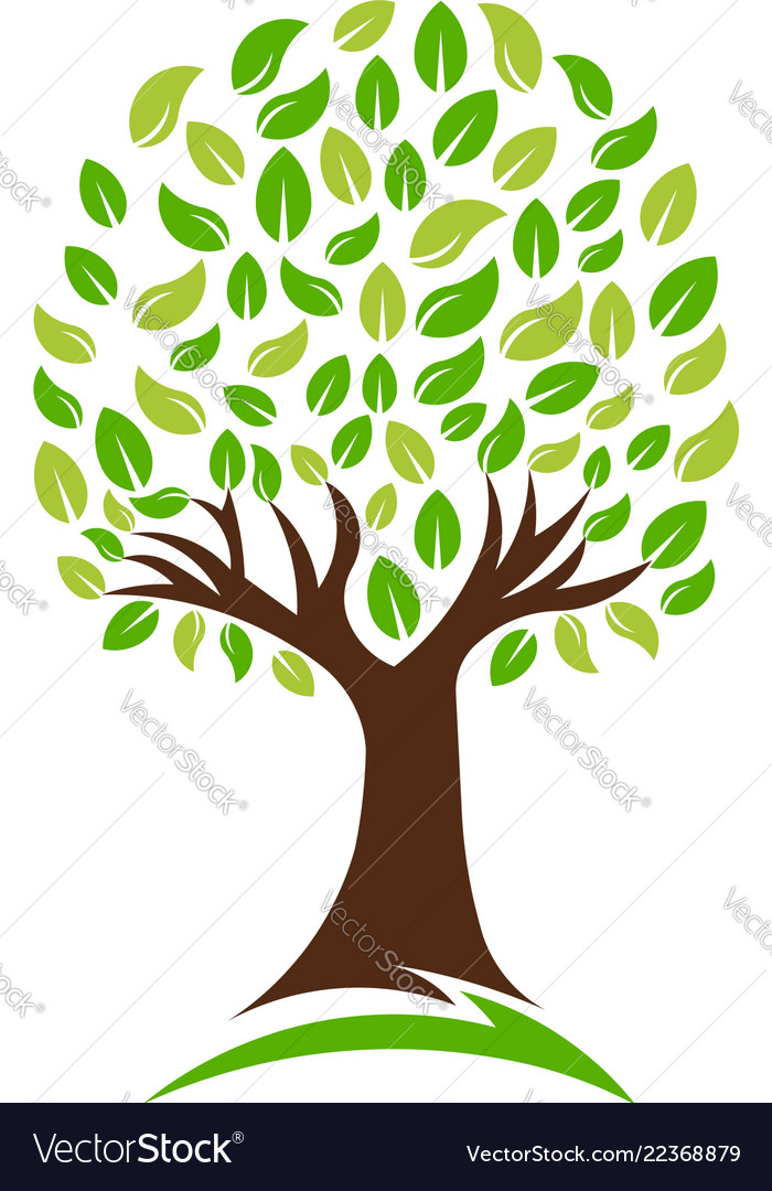 Green nature tree logo