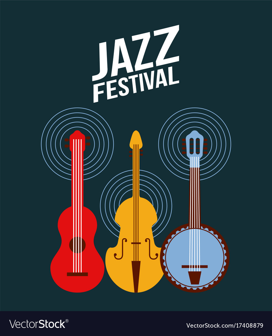 Jazz festival poster music event invitation vector image stopboris Choice Image