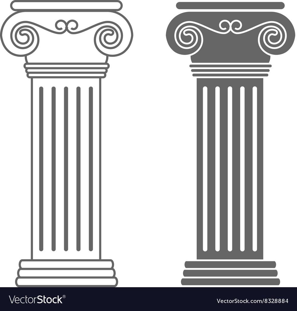 Ionic Columns 380x400 Royalty Free