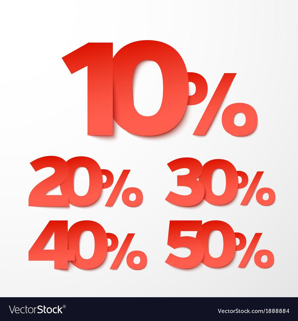 Sale percents Paper style