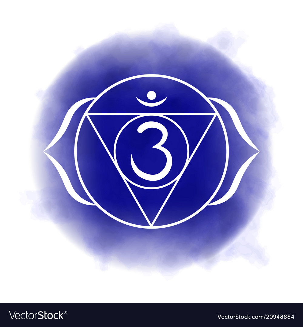 Sixth Third Eye Chakra Ajna Royalty Free Vector Image