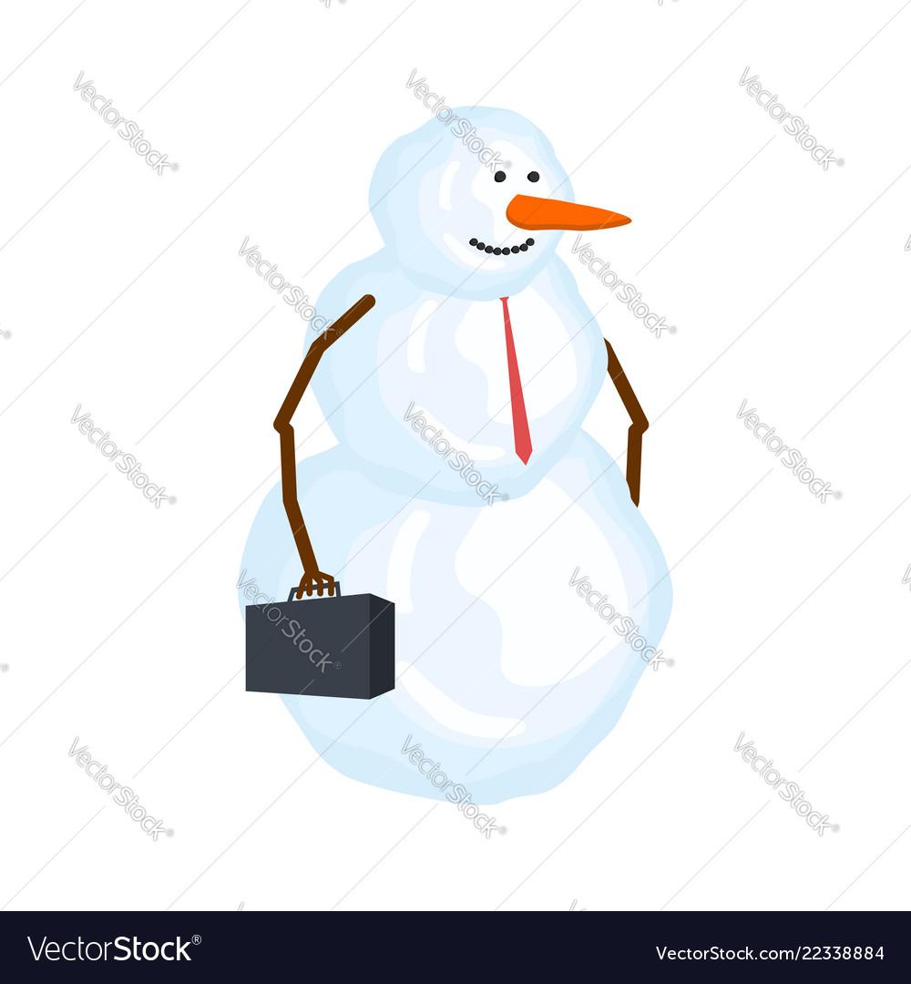 Snowman businessman winter boss snow manager