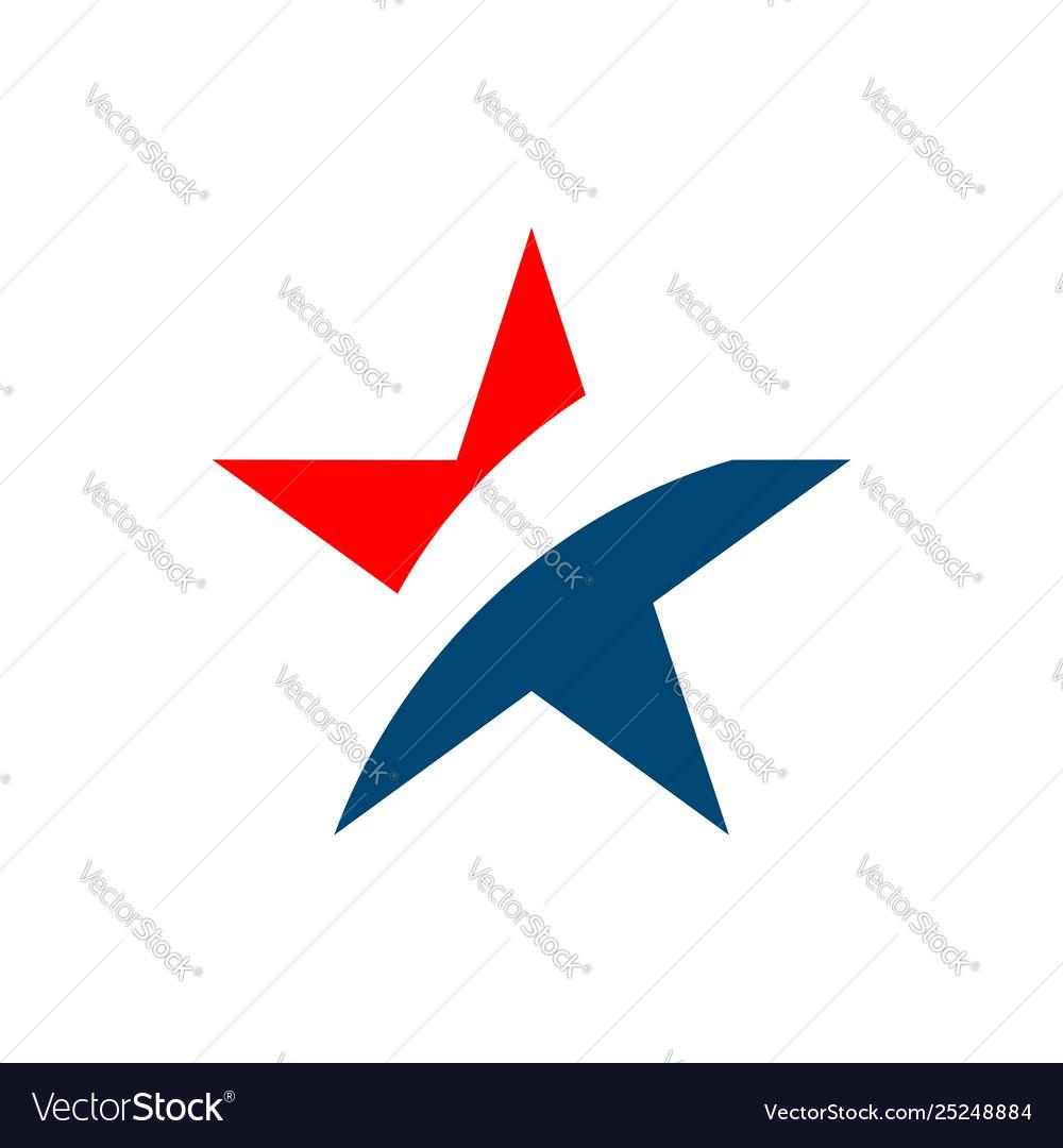 Star patriotic logo template