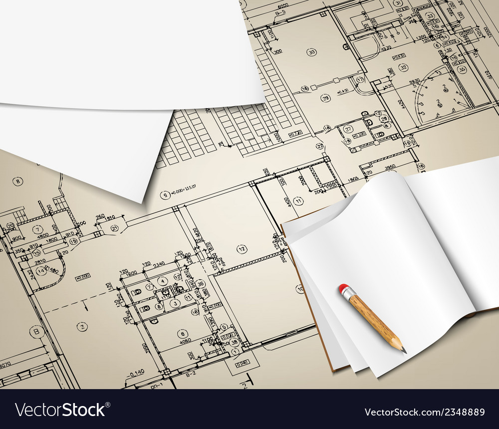 Architectural background drawing technical letters