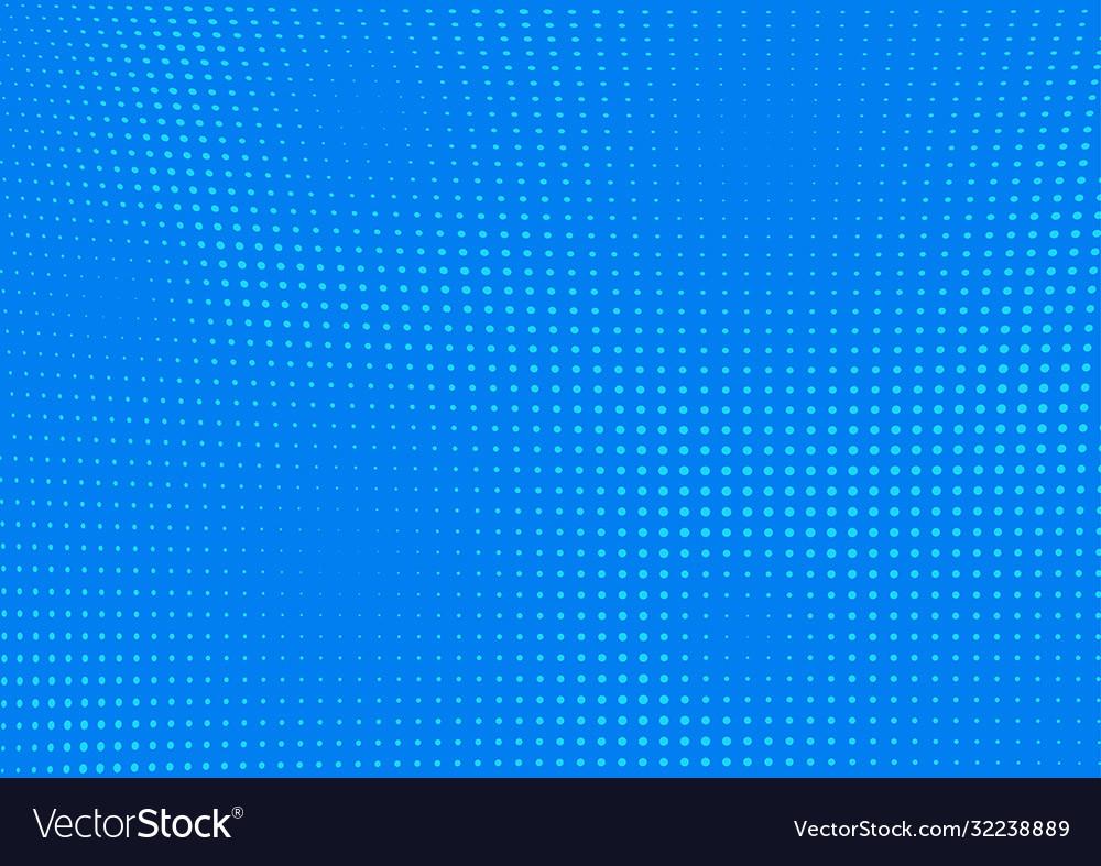 Blue dotted pop-art halftone background