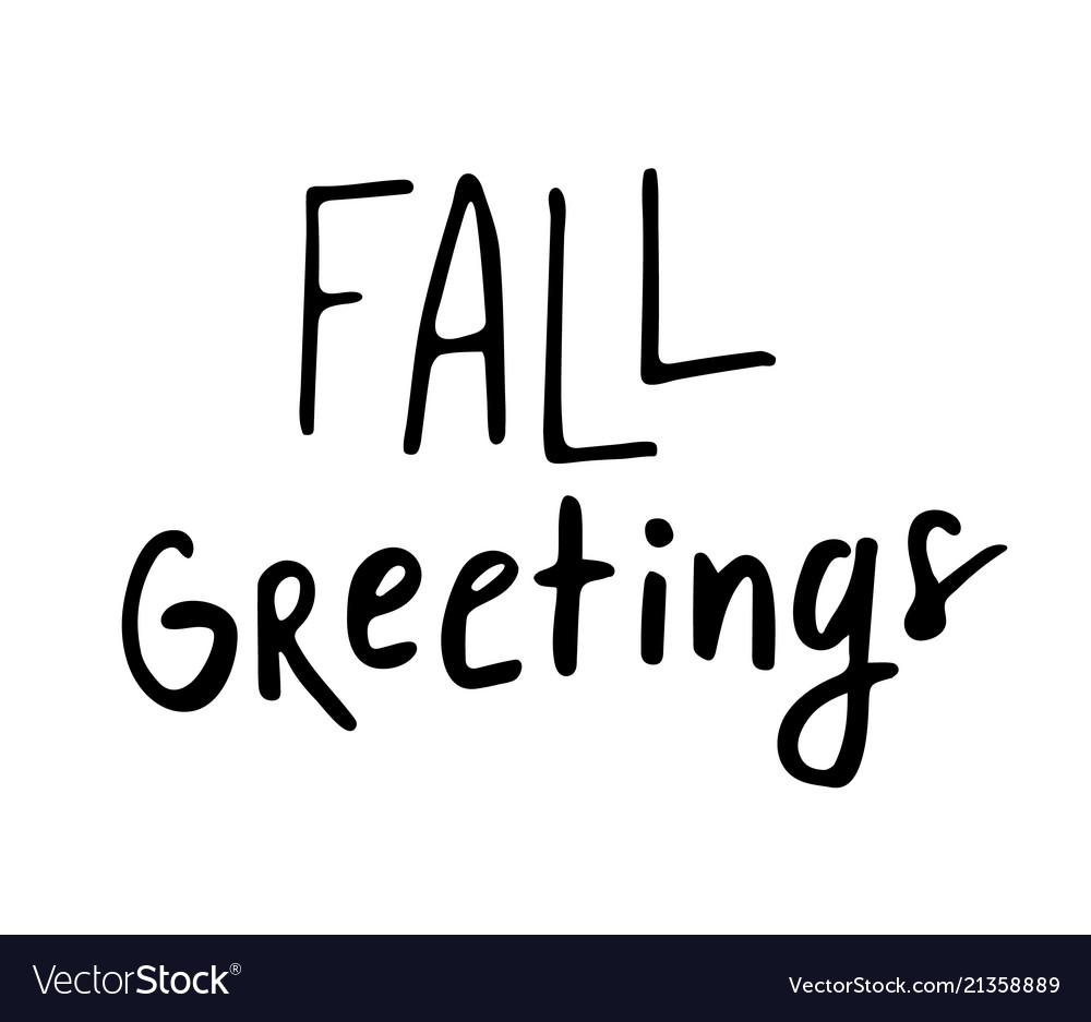 Happy fall autumn greeting card