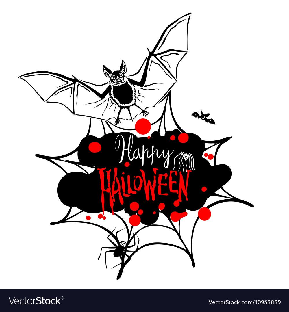 Happy Halloween message design background EPS 10
