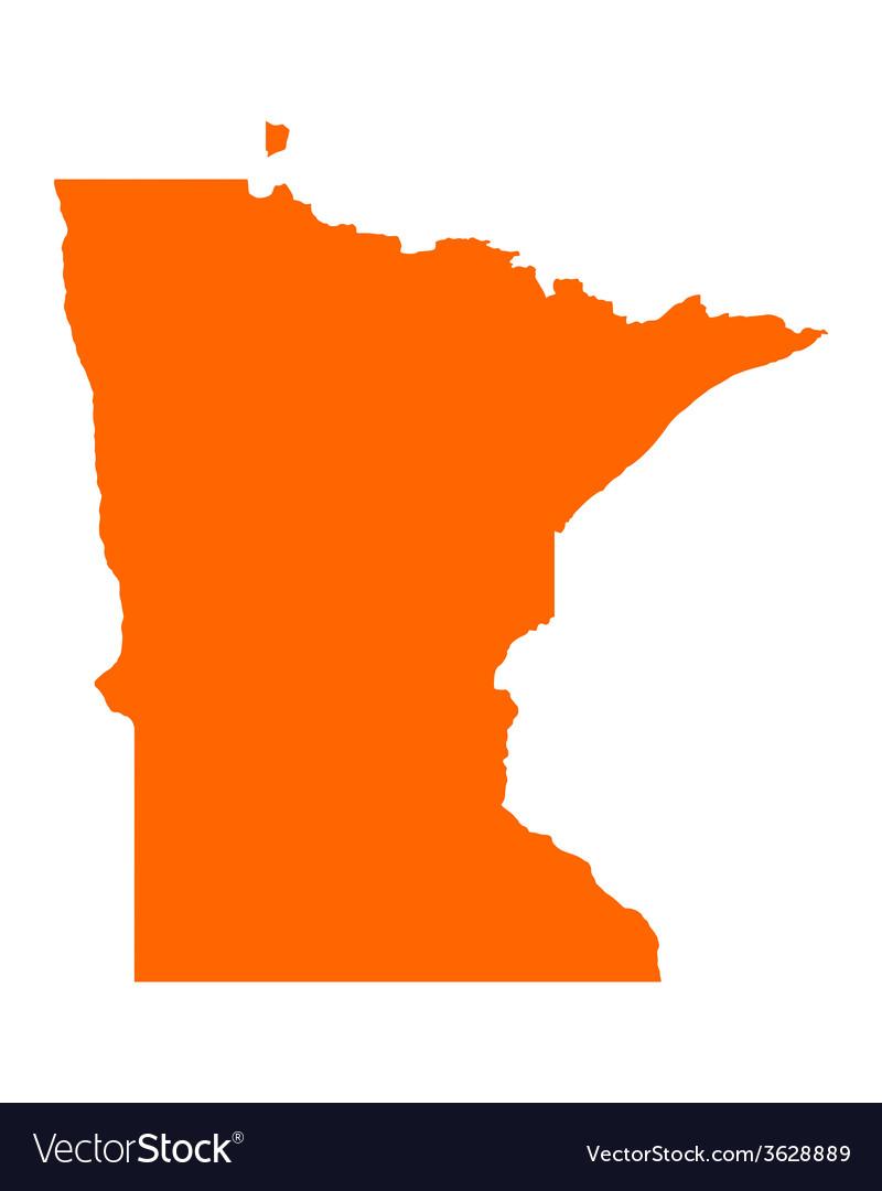 Map of Minnesota vector image