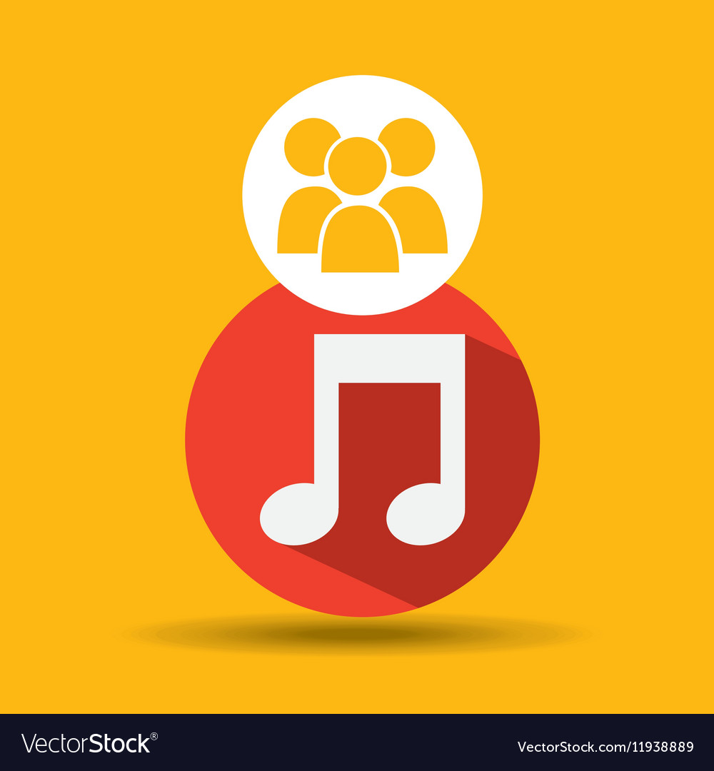 Social media group music design vector image