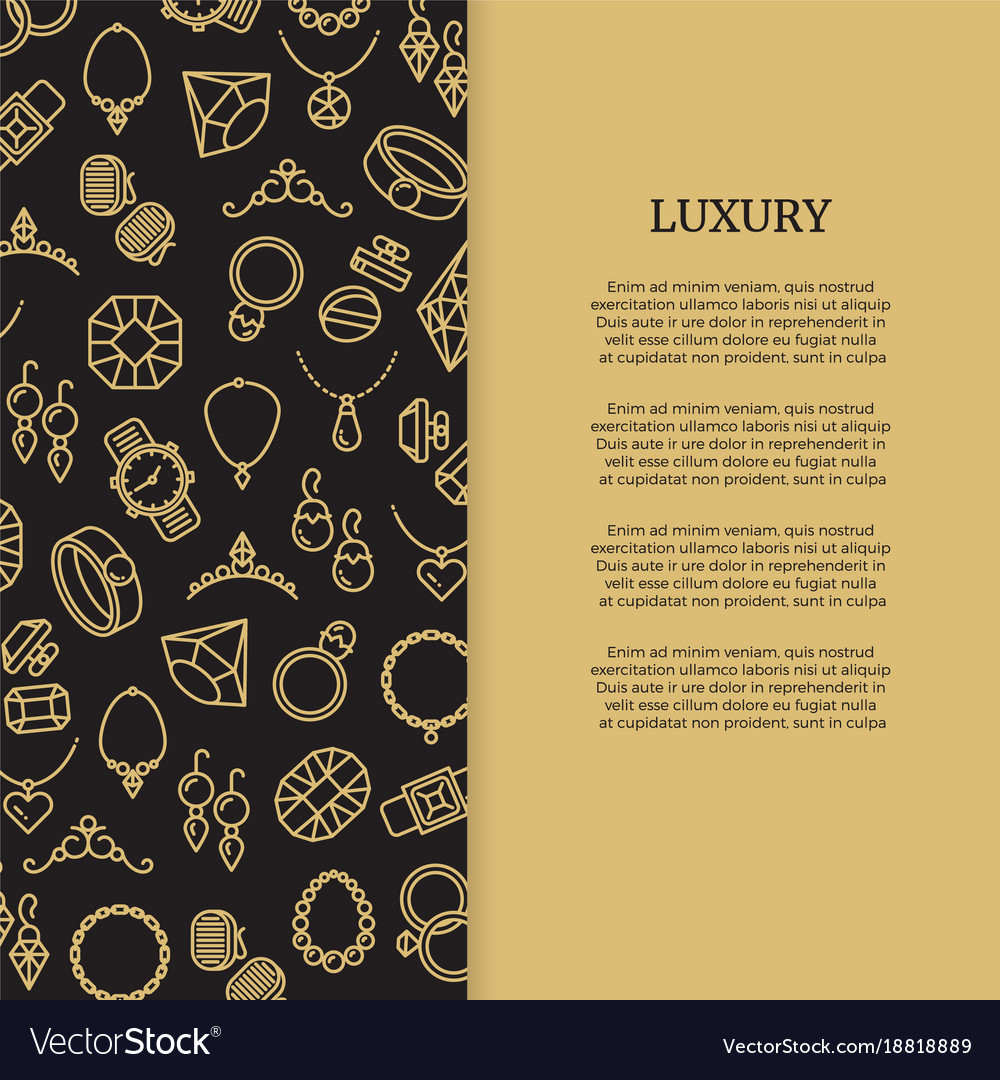 Thin line jewelry and diamonds luxury banner