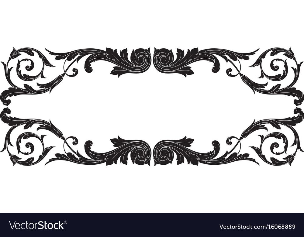 Vintage baroque ornament element