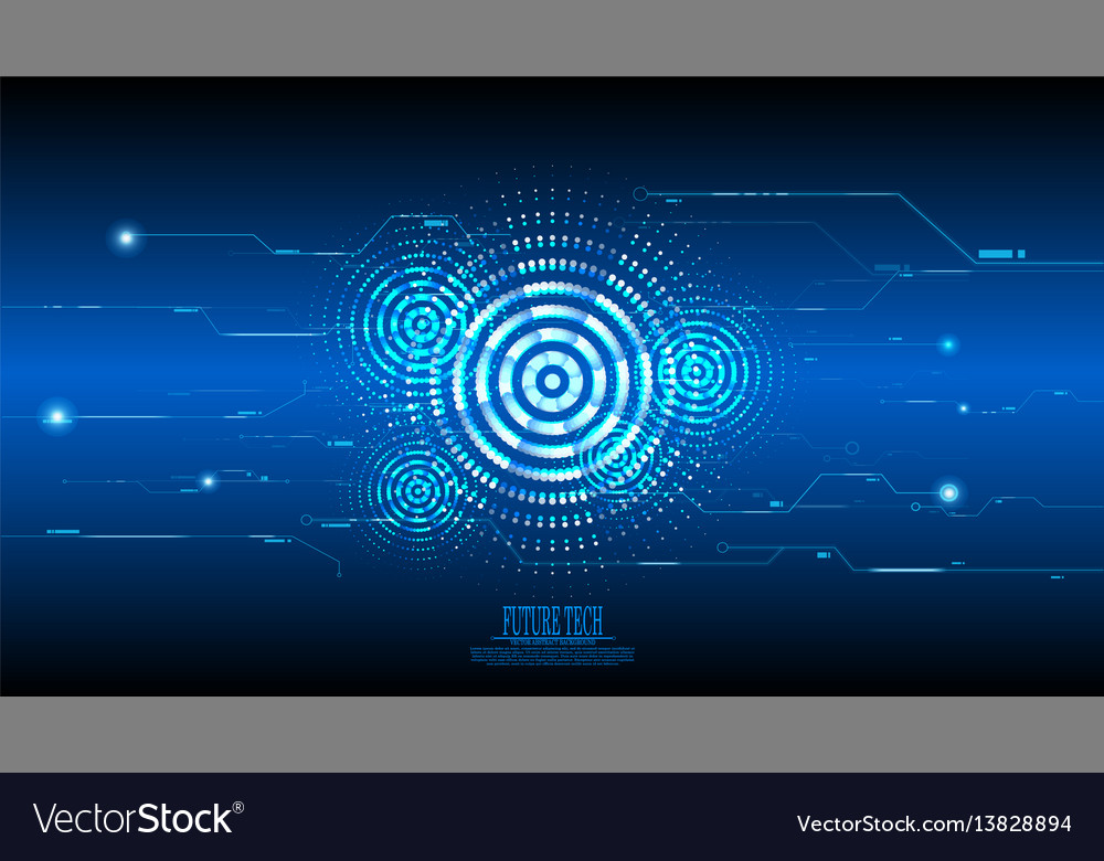 Abstract blue cyber circuit background