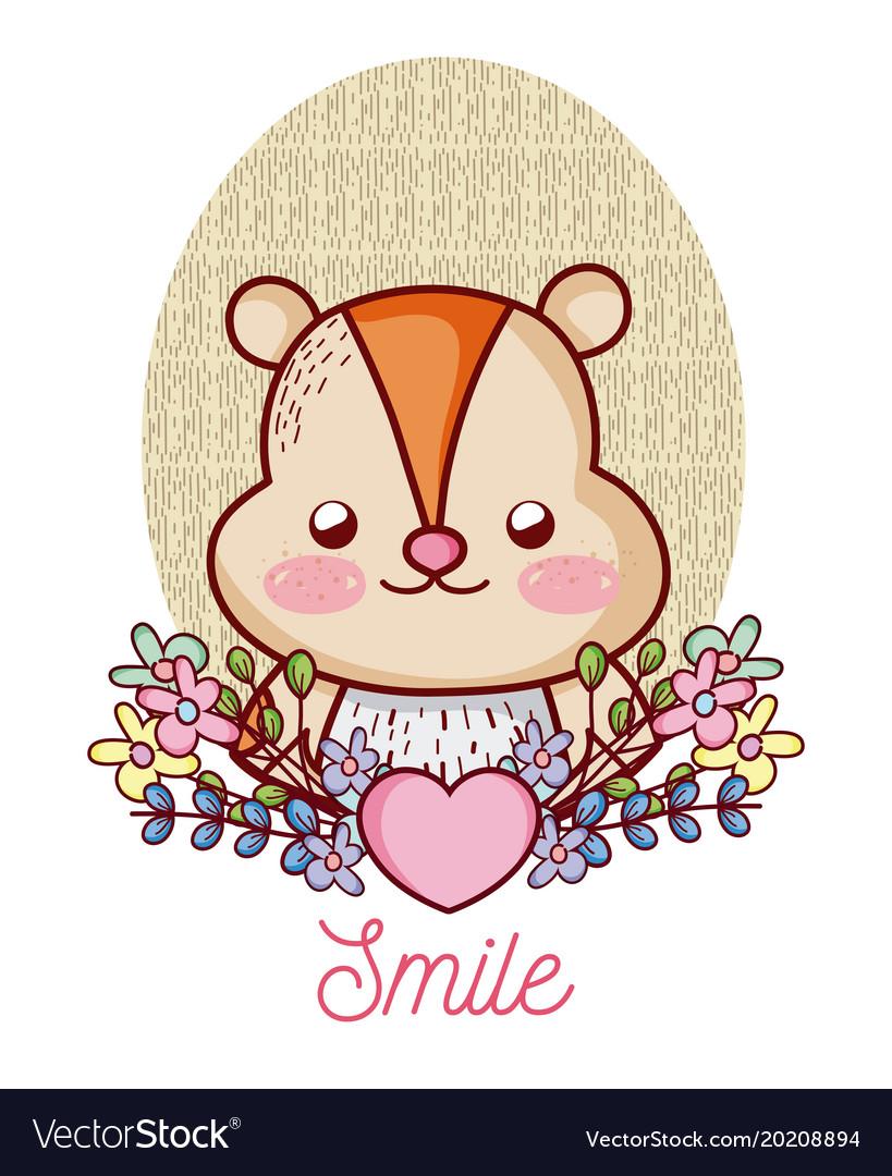 Lovely hamster cartoon