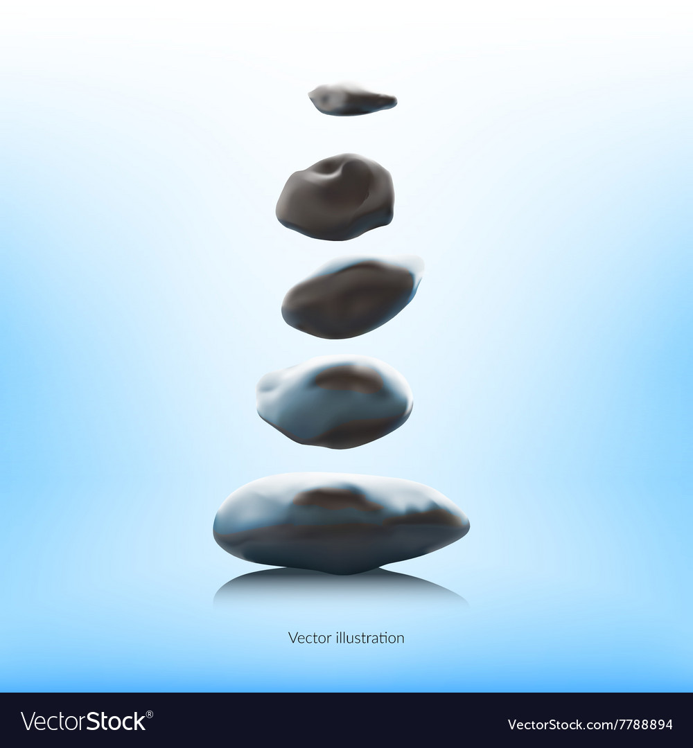 SPA stones on a blue background