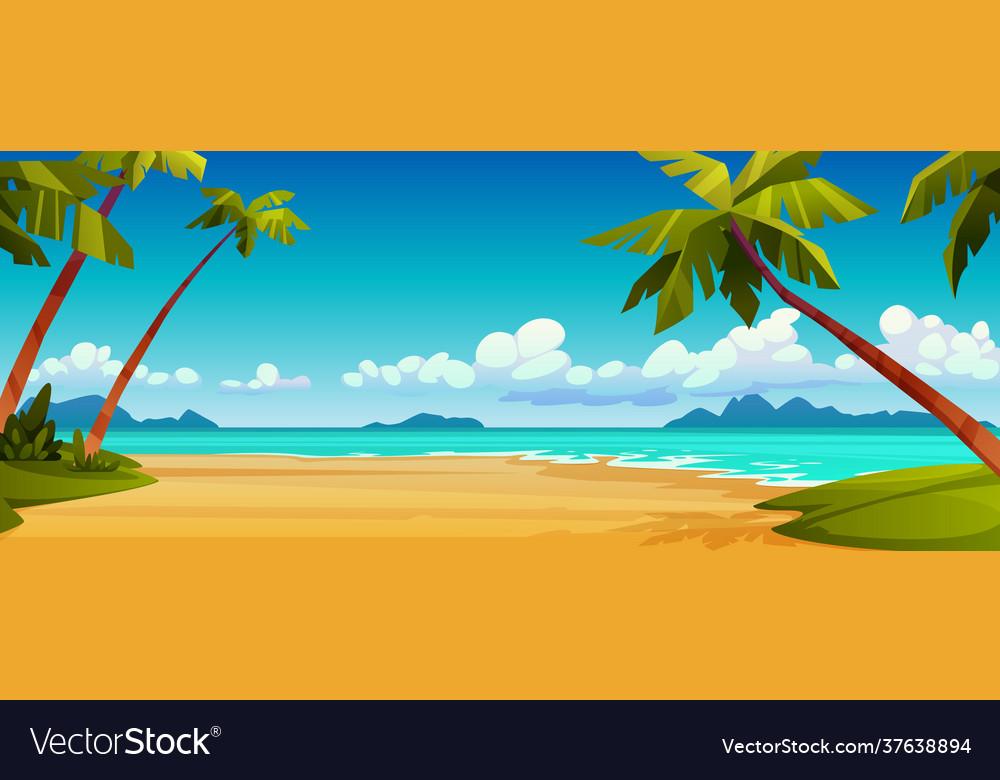 Summer beach seashore tropical landscape scenery