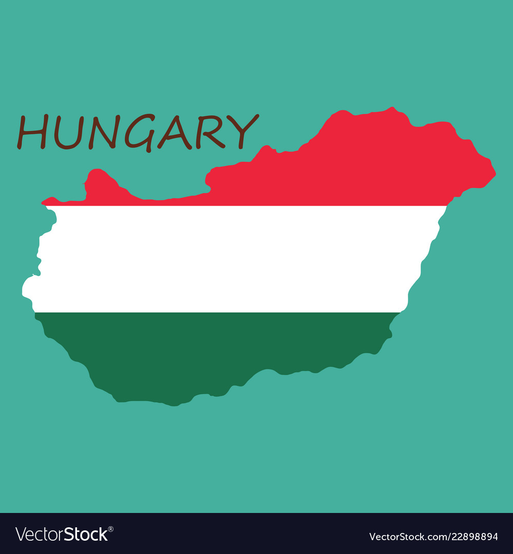 Symbol poster banner hungary map of hungary with