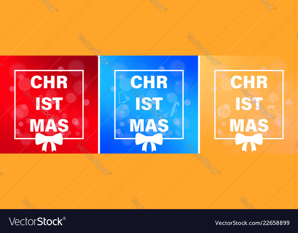 A set of christmas themes posters or postcards