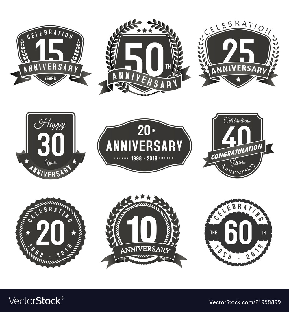 Anniversary years seal and labels