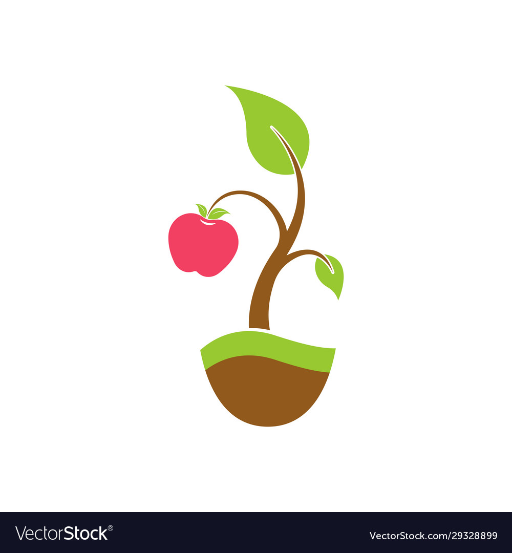 Apple Tree Logo Royalty Free Vector Image Vectorstock