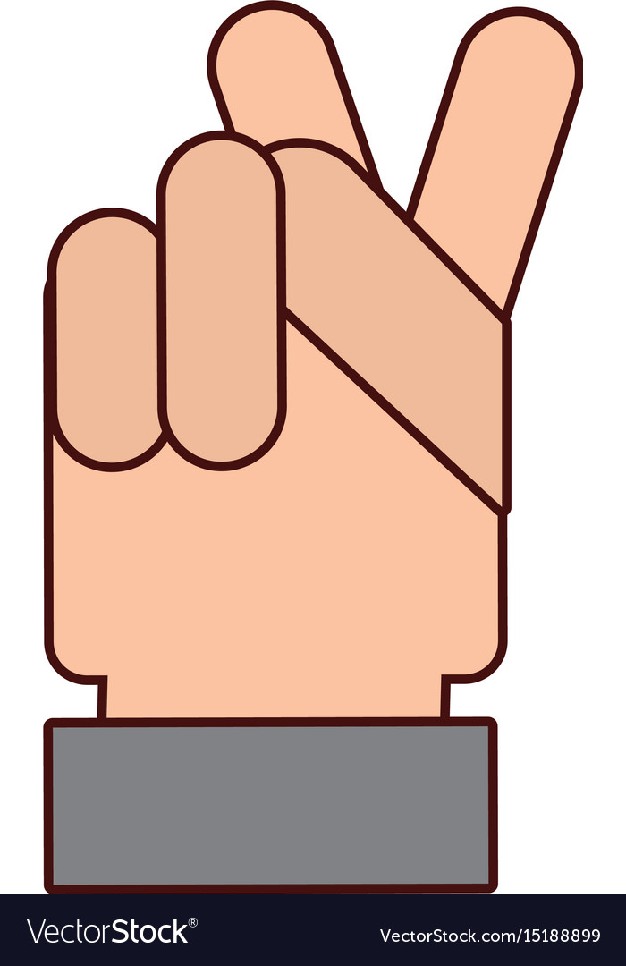 Hand Human Peace And Love Symbol Royalty Free Vector Image