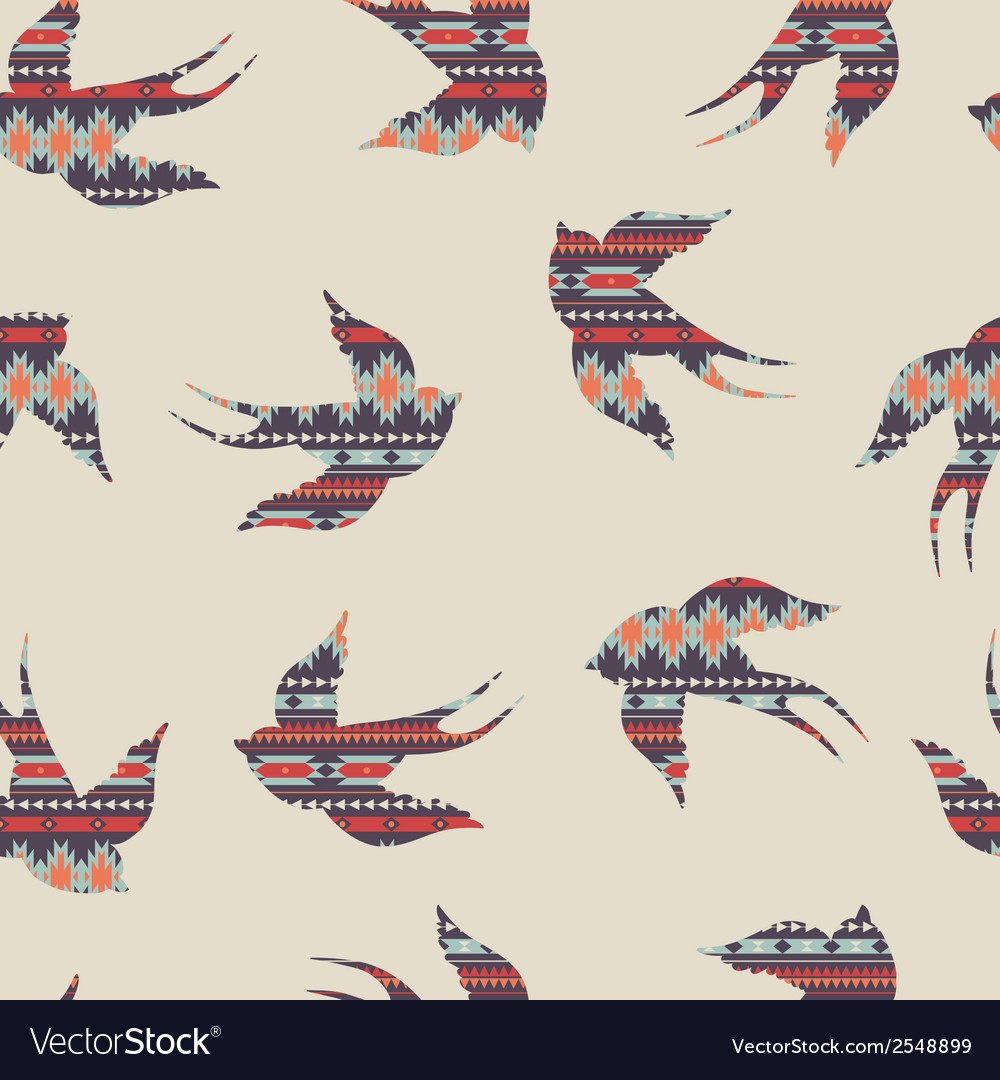 Seamless colorful decorative ethnic pattern with