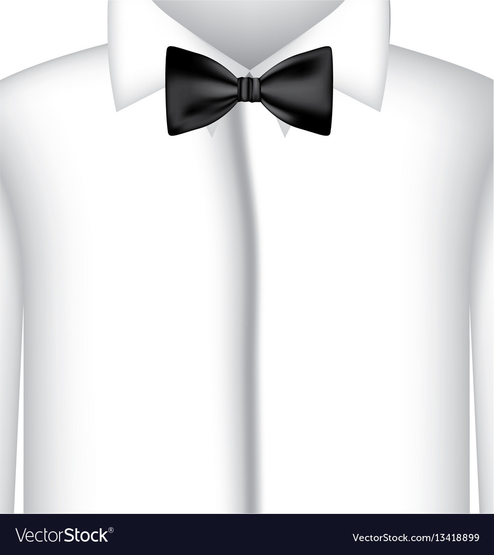 Sticker shirt with bow tie icon