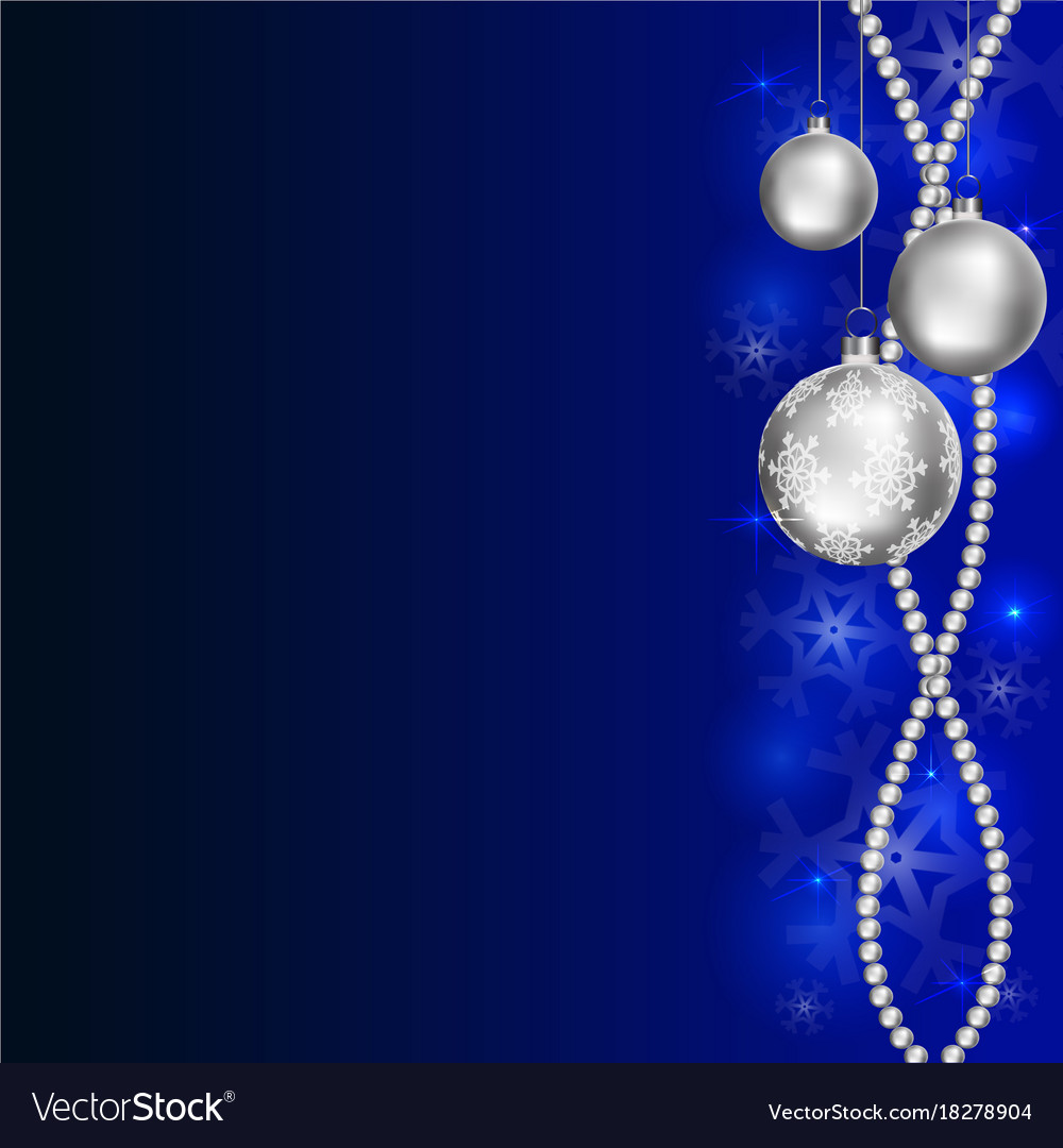 blue christmas background vector image - Blue Christmas Background