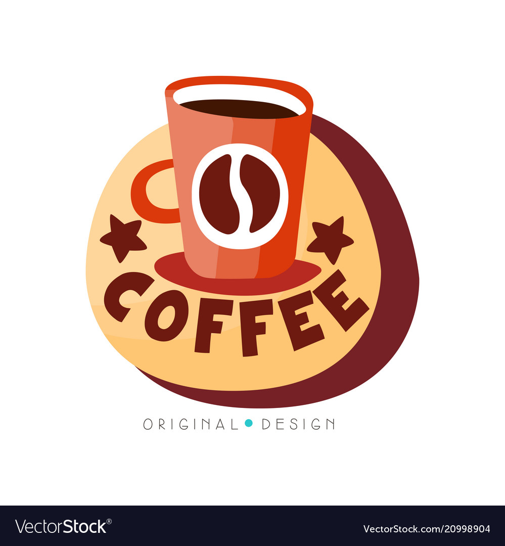 Coffee shop logo design template cafeteria or vector image