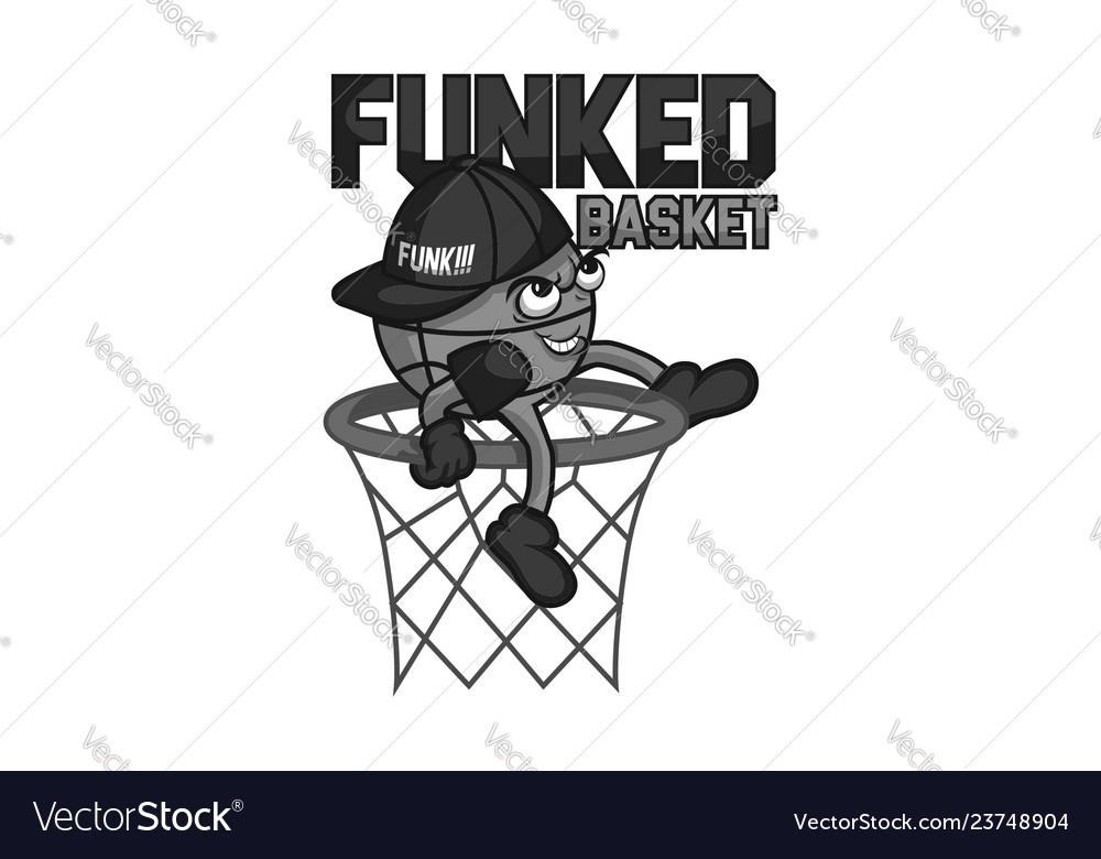 Funked ball mascot gray colors