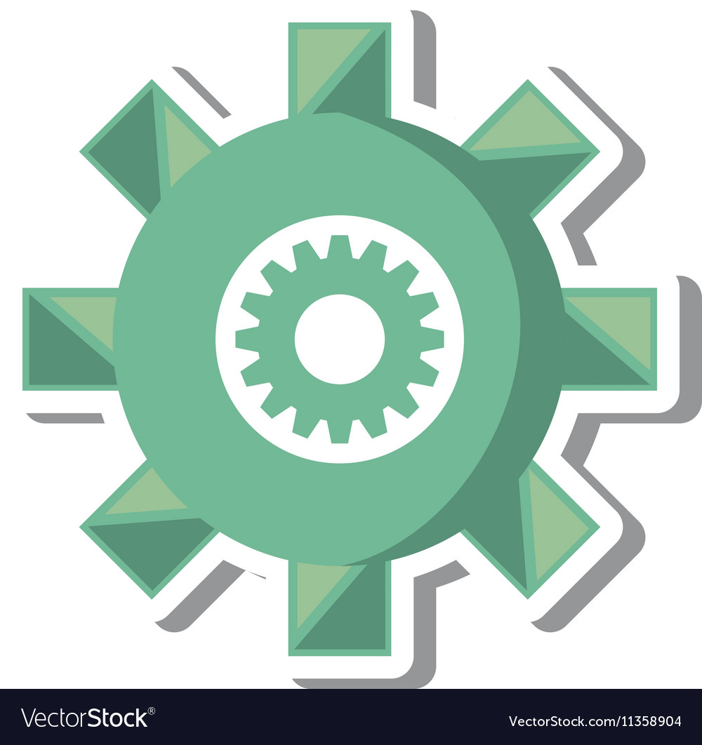 Gears machine settings isolated icon
