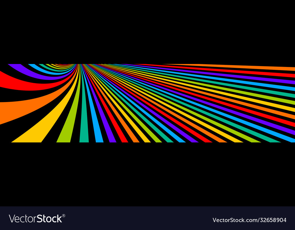 Psychedelic rainbow colored optical lines insane