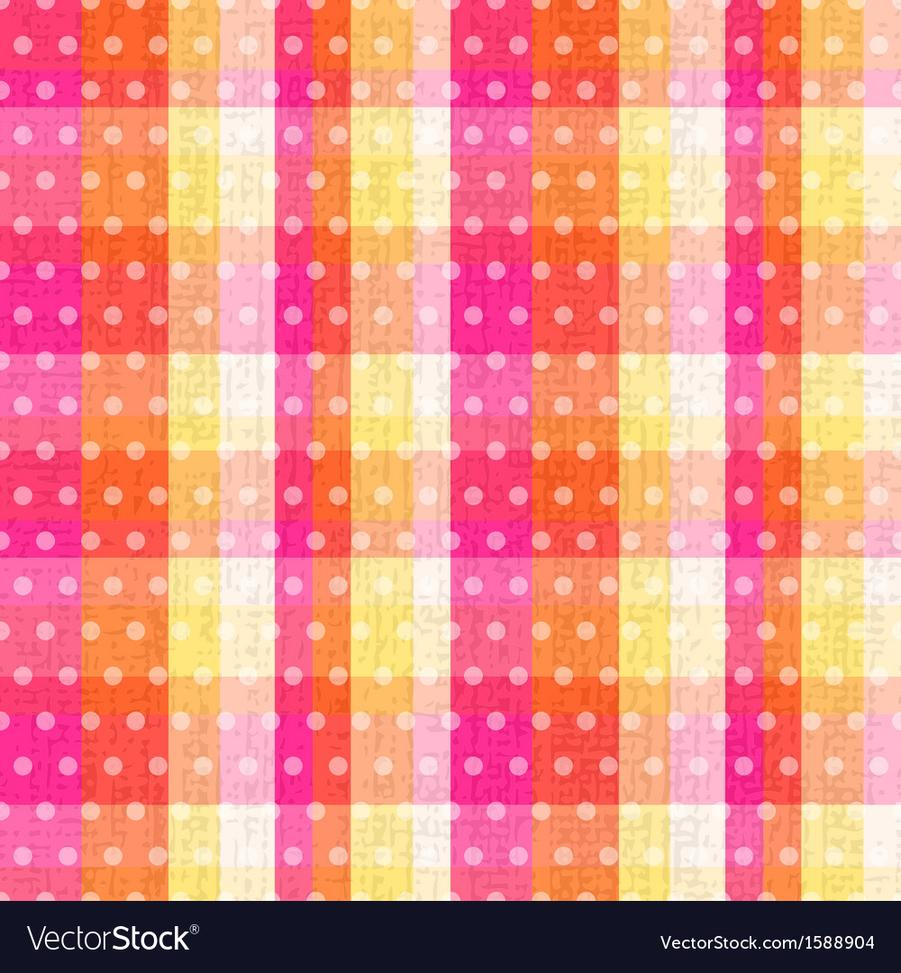 Seamless abstract plaid check with polka texture