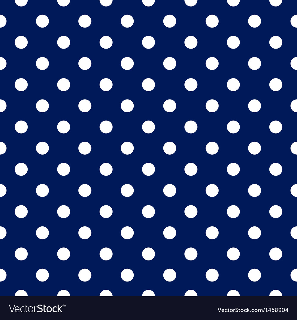 Seamless pattern - blue with white polka dots