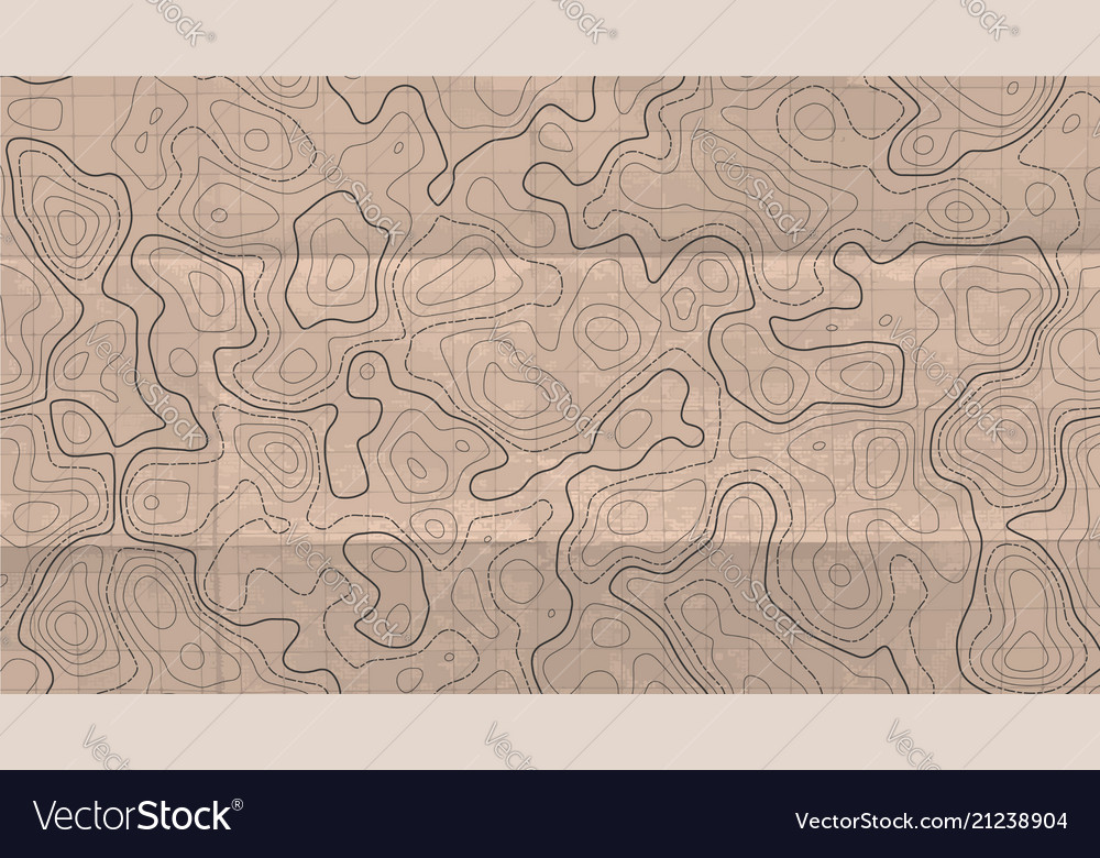 Topographic line map abstract concept topographic