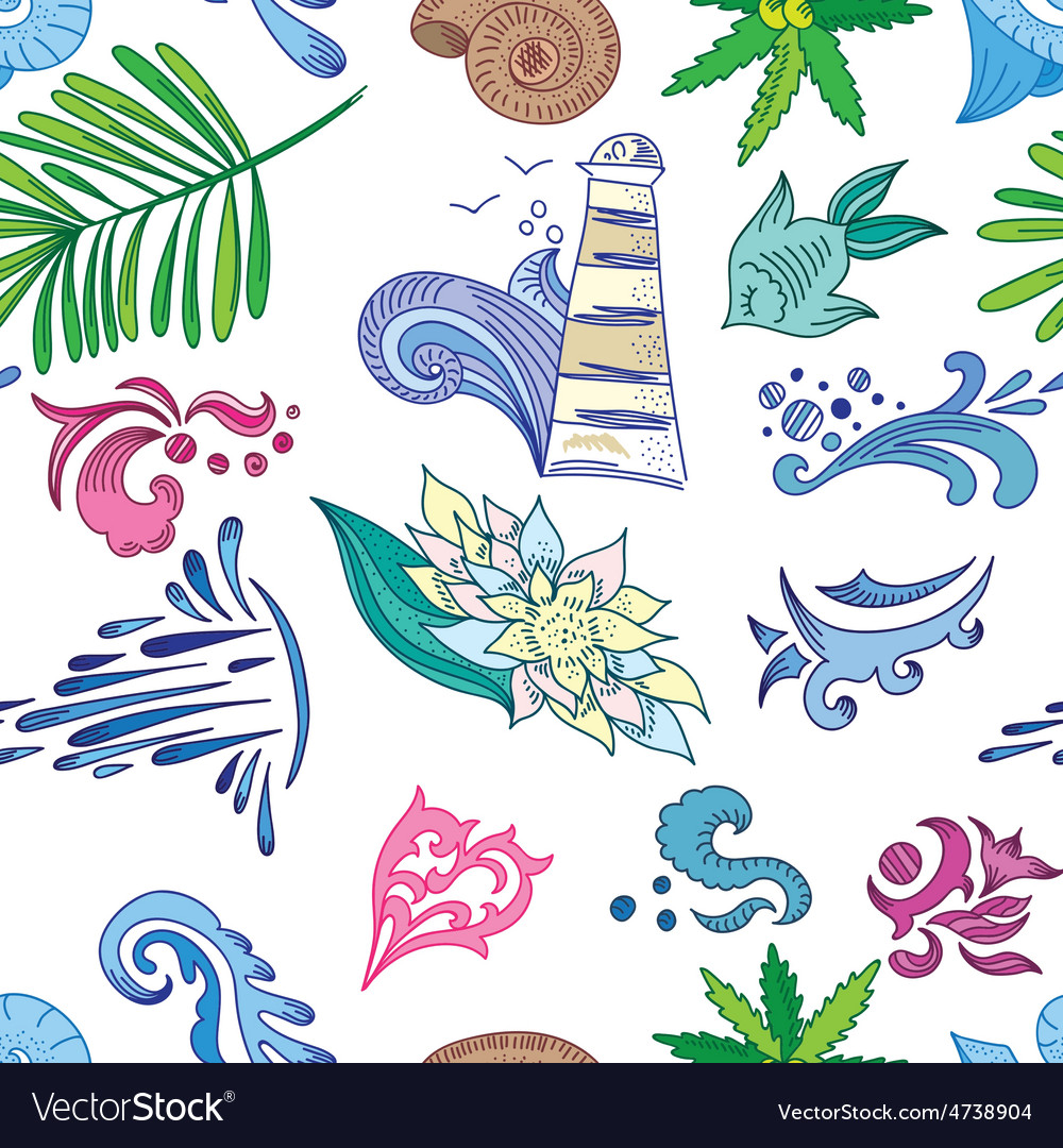 Travel Sea Colorful Pattern