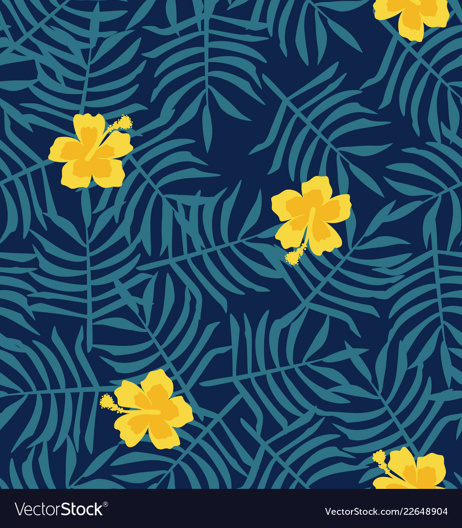 yellow hibiscus flower background royalty free vector image vectorstock