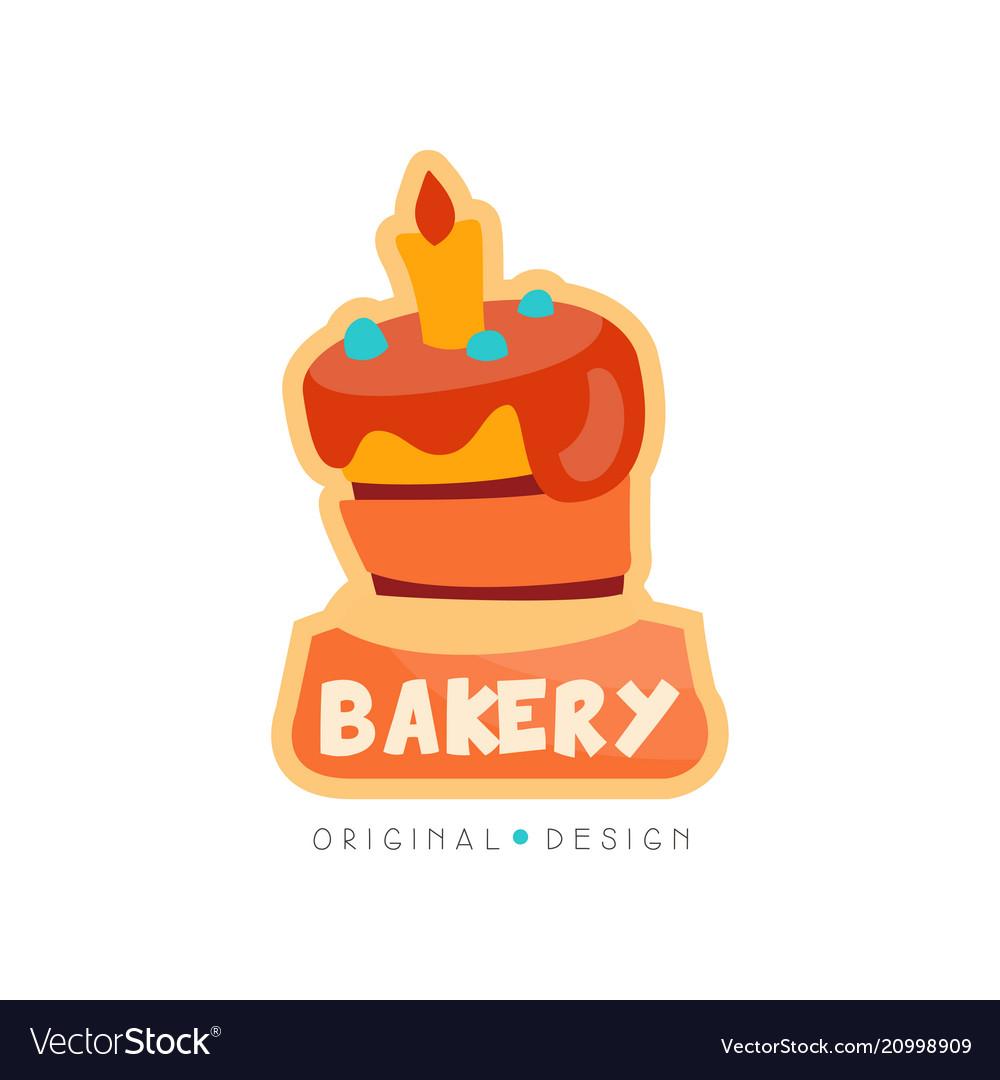 Bakery Shop Logo Design Template Badge For Bread Vector Image