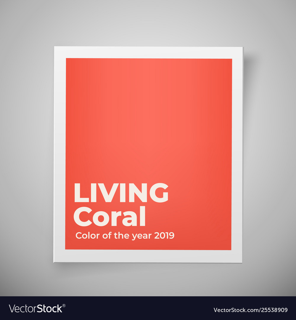 Color year 2019 living coral palette