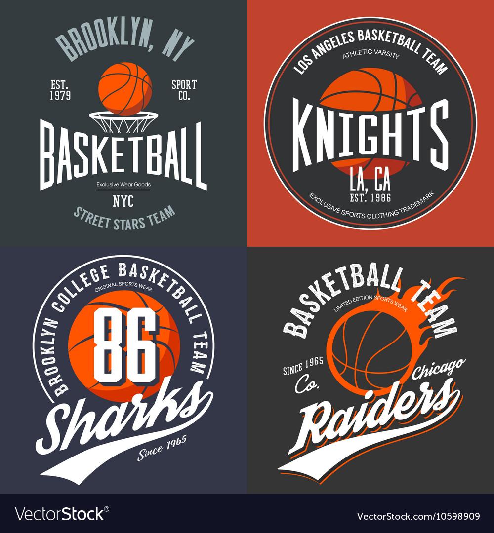 Design for basketball fans usa new york brooklyn vector image