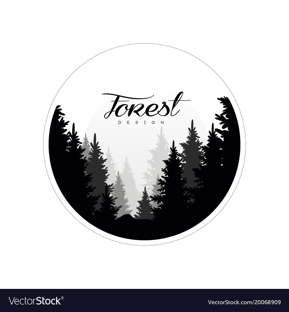 Forest logo design template beautiful nature Vector Image