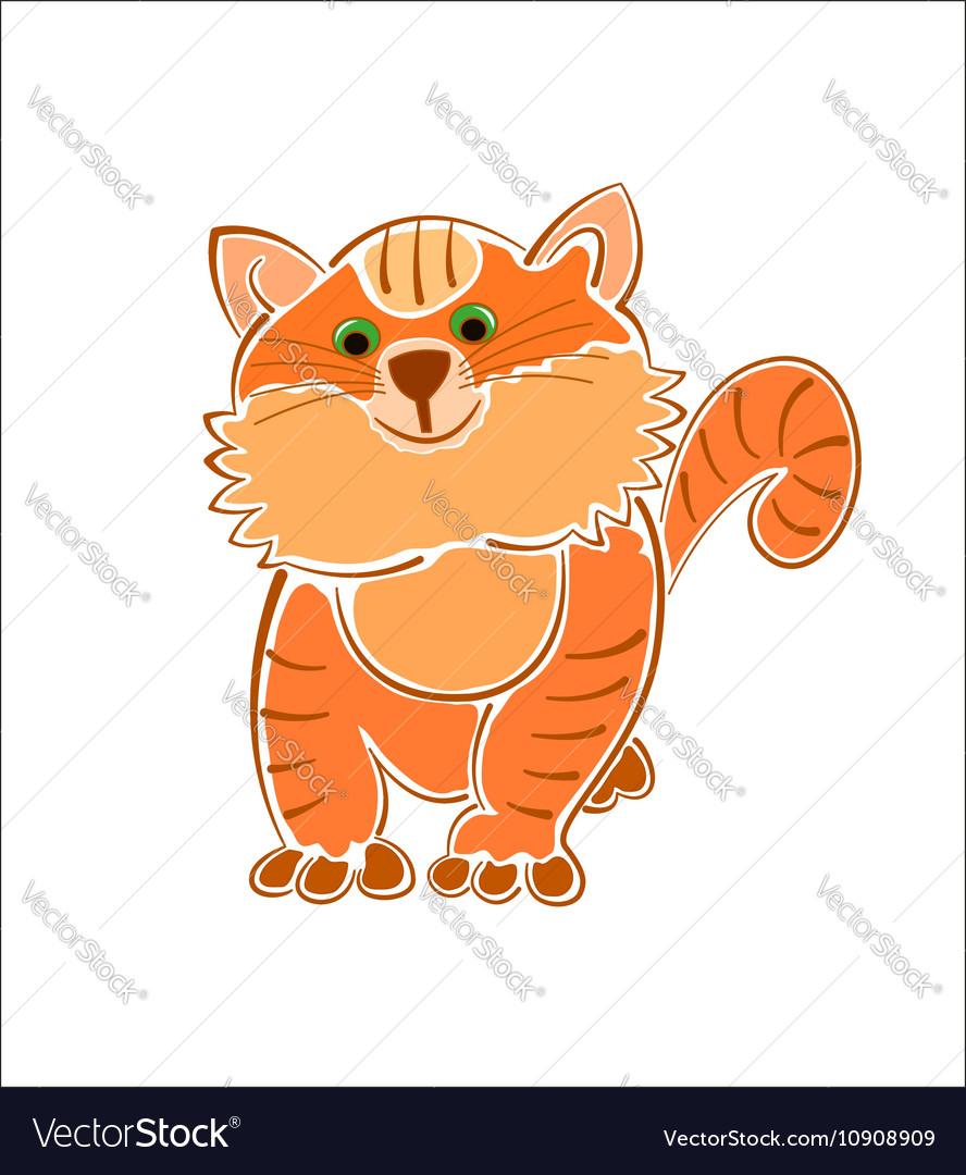 Ginger furry fat cat
