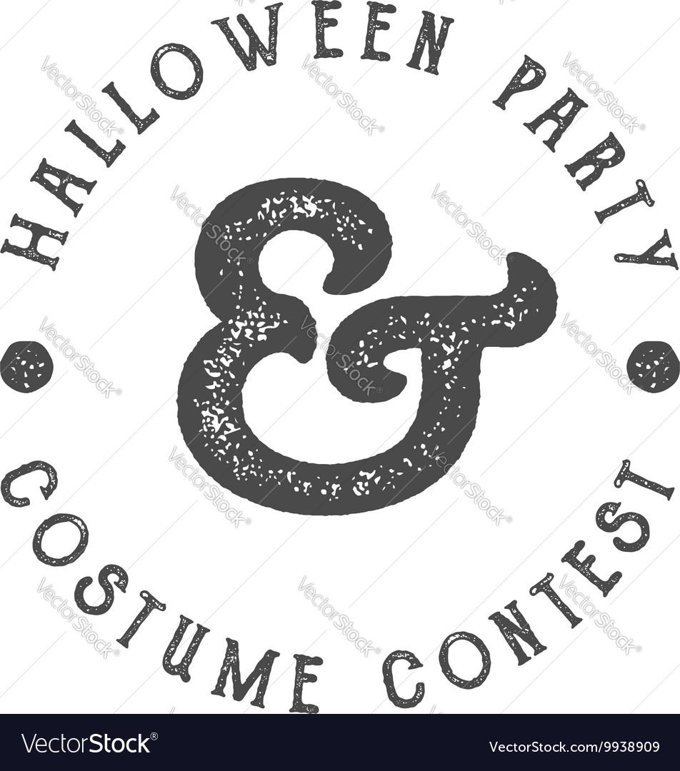 Happy Halloween 2016 vintage Party Label vector image