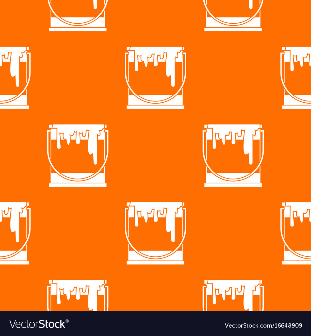 Paint can pattern seamless vector image